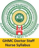 GHMC Doctor Staff Nurse Syllabus