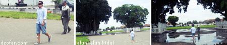 kakak Gatot mencoba melewati dua beringin di alun-alun kidul