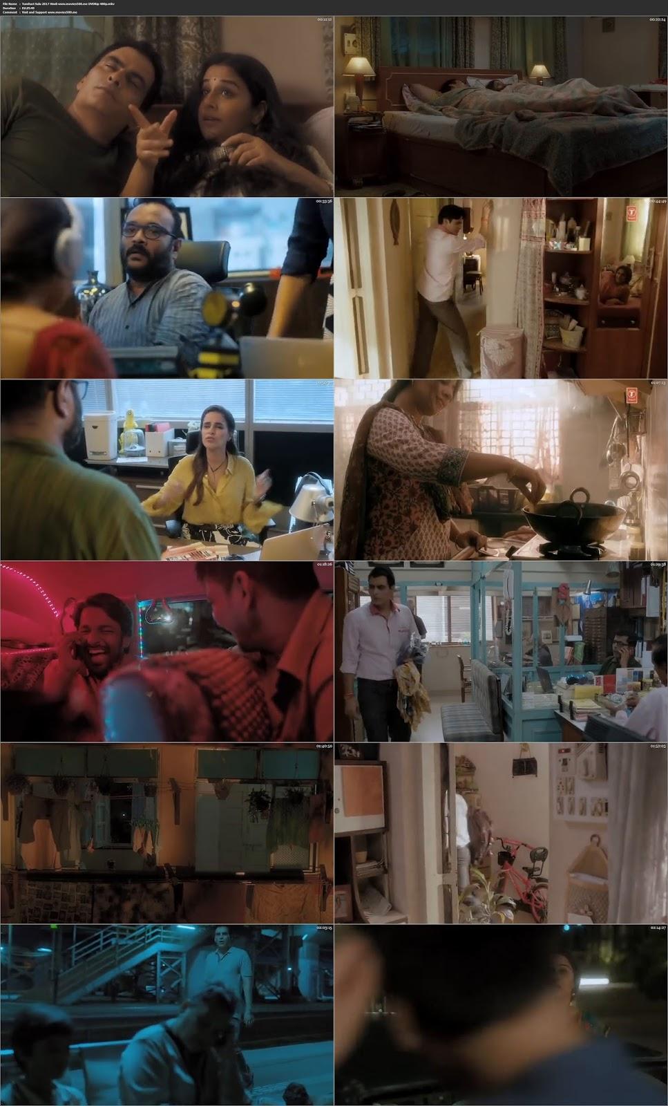 Tumhari Sulu 2017 Bollywood 300MB DVDRip 480p at movies500.xyz