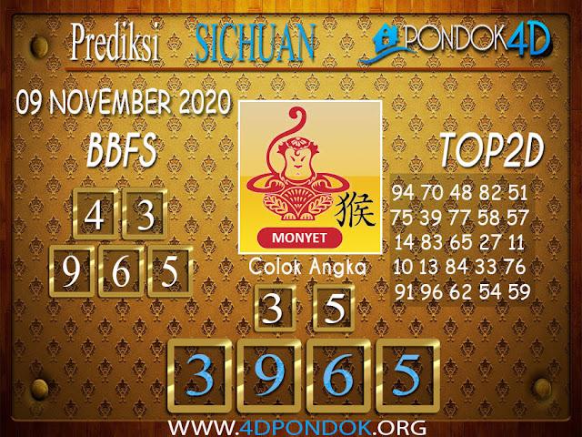 Prediksi Togel SICHUAN PONDOK4D 09 NOVEMBER 2020