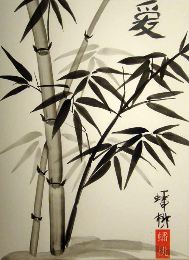 Veronique Renard Visual Artist Chinese Bamboo Brush