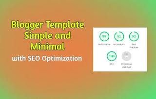 thumbnaid Blogger Template with good LightHouse and SEO score