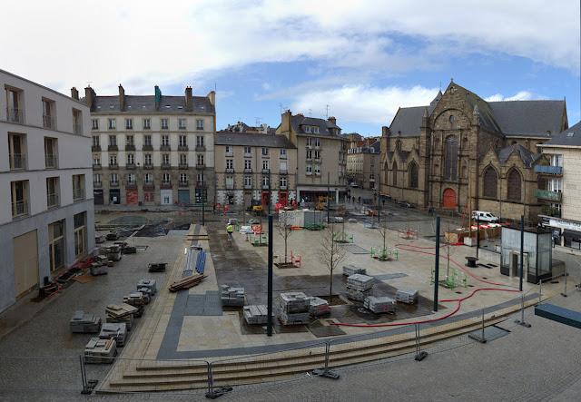 La Place Saint-Germain en travaux en Mars 2021