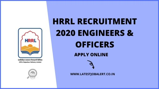 HRRL Recruitment 2020 of Engineers & Officers Various post