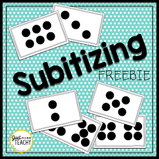 Subitizing Freebie to practice number sense