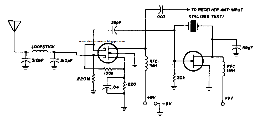 simple vlf converter circuit diagram