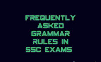 Frequently asked error detection rules /GRAMMAR RULES in SSC CGL CPO CHSL exams