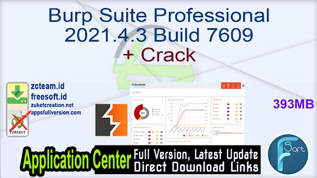 Burp Suite Professional 2021.4.3 Build 7609 + Crack_ ZcTeam.id