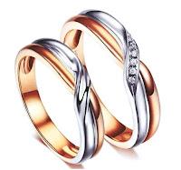 cincin nikah unik rose gold