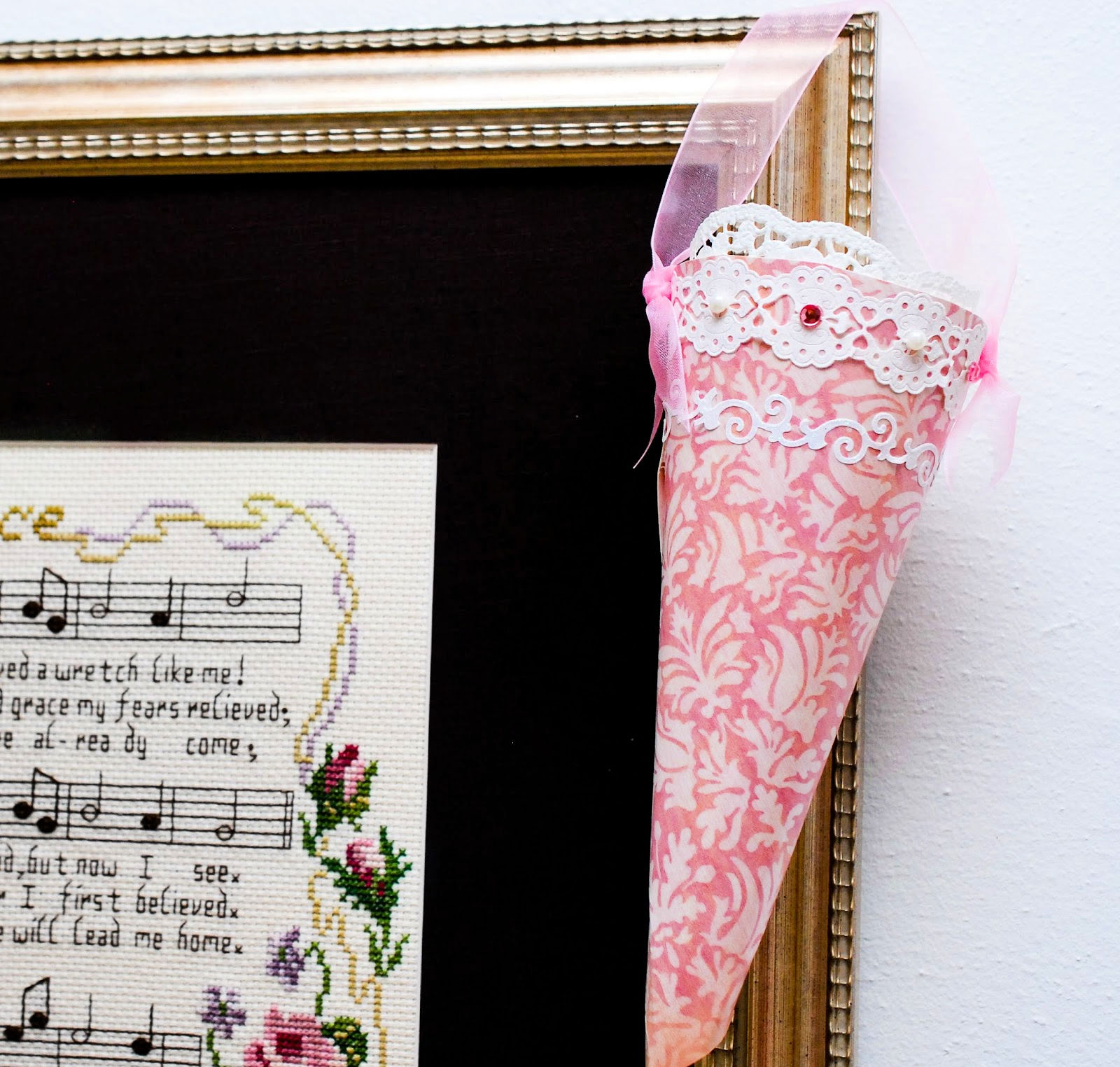 how to make a victorian paper cone