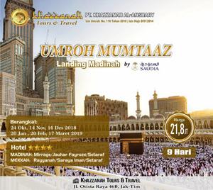 Umroh Khazzanah Tour Muntaz Landing Madinah