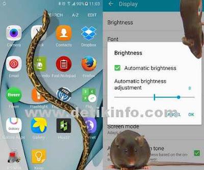 Cara menampilkan Tikus dan Ular Bergerak di layar android