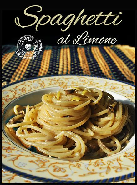 Spaghetti con funghi champignon e Limone