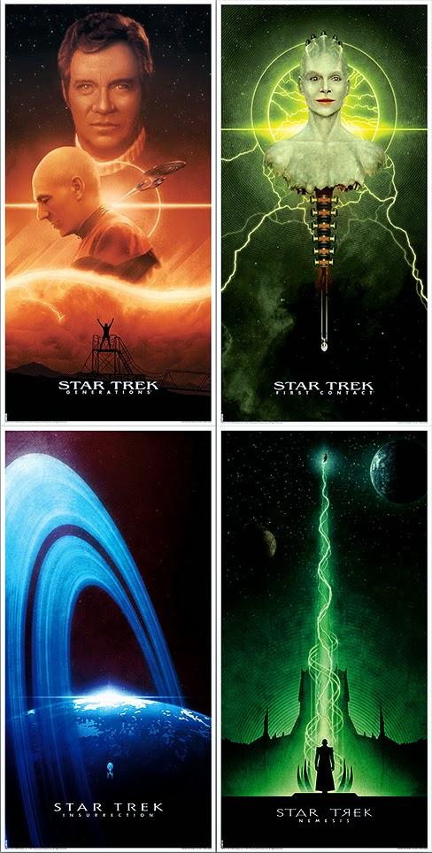 Star Trek The Next Generation Movie Posters By Matt Ferguson
