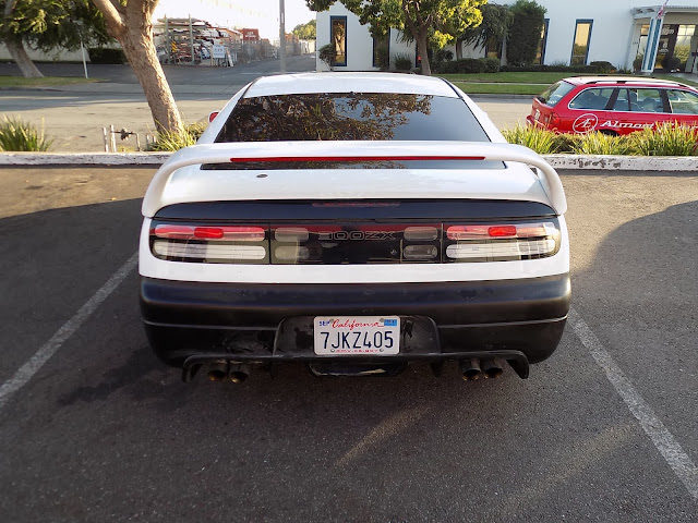 Replacement bumper before paint on 1993 Nissan 300ZX Turbo at Almost Everything Auto Body.