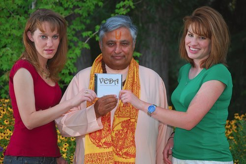 presented the first copy to the acclaimed Hindu leader Rajan Zed in Nevada (USA)