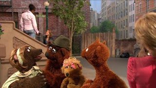 Baby Bear, Curly Bear, Mama Bear, Papa Bear, Sesame Street Episode 4416 Baby Bear's New Sitter season 44