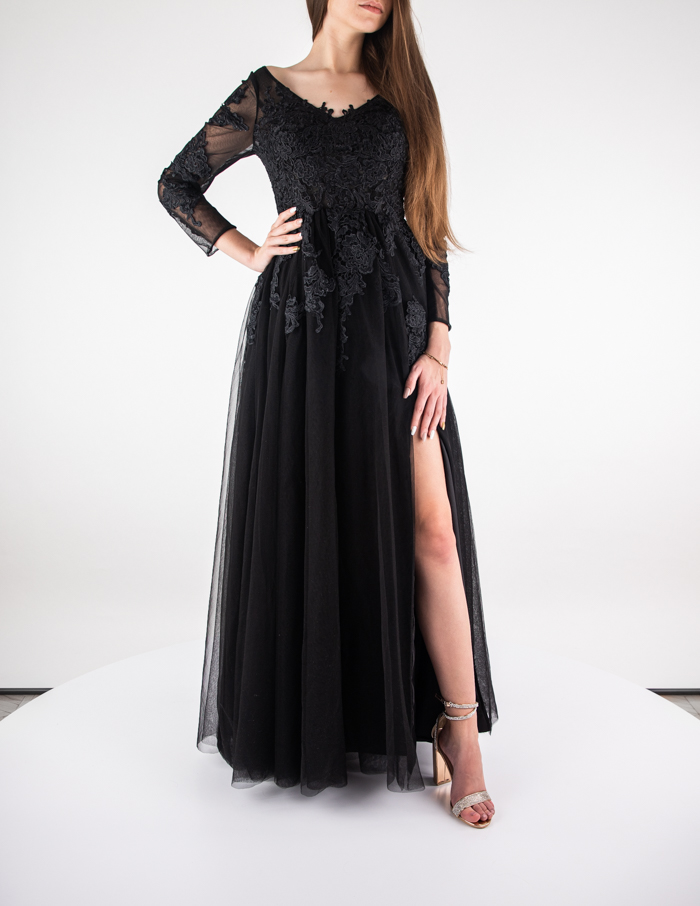 hebeos black dress