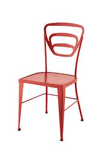 silla diseño para el jardin en forja