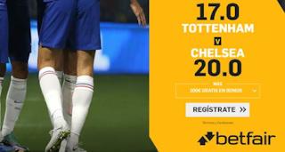 betfair supercuota Tottenham vs Chelsea 22 diciembre 2019