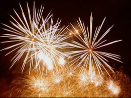 Fireworks display are a traditional part of the Festa di San Silvestro celebrations in Italy