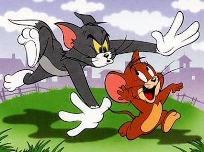 Dibujo de Tom persiguiendo a Jerry
