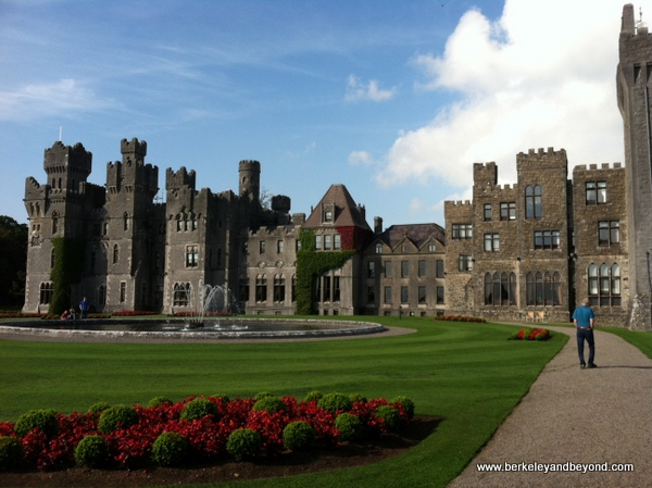 exterior of Ashford Castle in Cong, Ireland