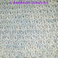 滑り目で作る編み模様