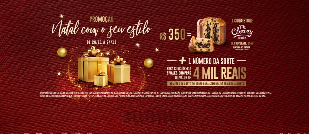 Promoção Natal 2020 Golden Square Shopping - Natal com o seu estilo