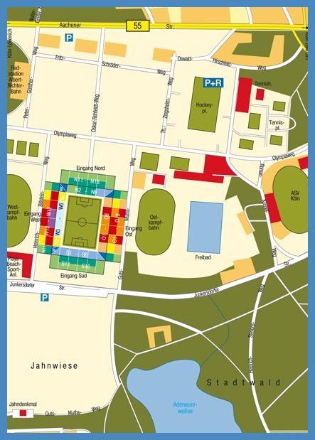 Map RheinEnergieStadium Cologne Köln Germany Maps and from Rhein energie stadion karte, Rhein Energie Stadion Karte, Rhein Energie Stadion Karten