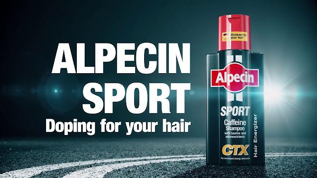 Alpecin hair growth shampoo ad