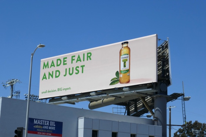 fair just Honest Organic Green Tea billboard