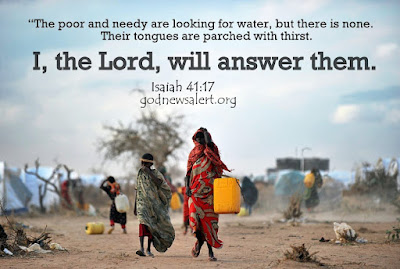"""water for parched souls essay The scriptural use of an archetype: water  once in their land god will """"pour water on the parched ground and cause  thirst our souls from."""