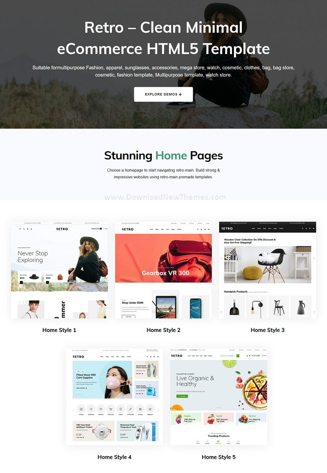 Clean Minimal eCommerce HTML5 Template