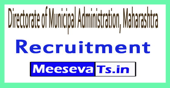 Directorate of Municipal Administration, Maharashtra MAHADMA Recruitment