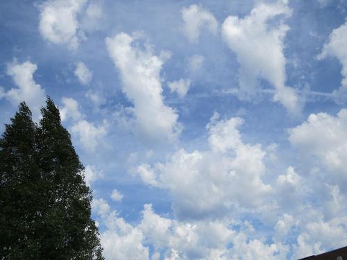 clouds in blue sky