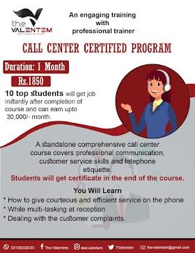 Call Center Certified Program-2020 (CCCP-2020) The Valentem