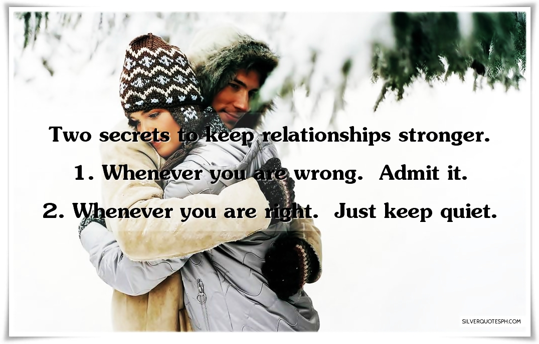 Keeping Secrets In A Relationship Quotes: Two Secrets To Keep Relationships Stronger