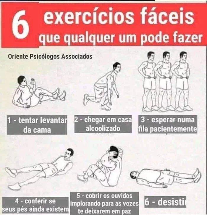 Quero ver todo mundo sarado com esses exercícios