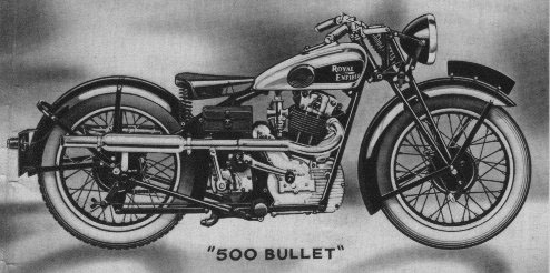 Catalog drawing of 1934 Royal Enfield Bullet.