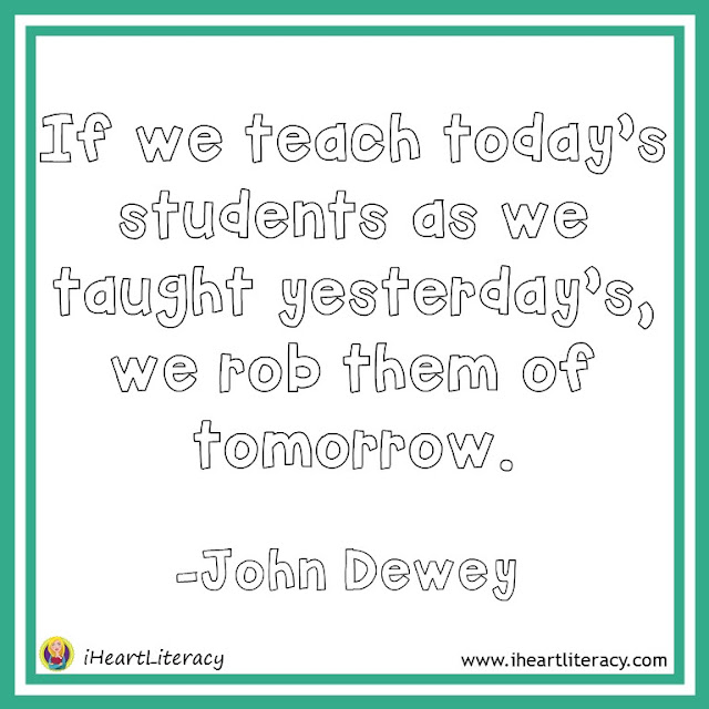 If we teach today's students as we taught yesterday's, we rob them of tomorrow. #teacherinspiration