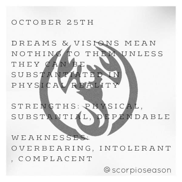 October 25 Zodiac: Scorpio