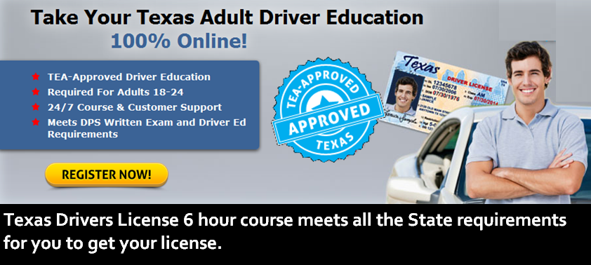 Texas Drivers License Requirements For 18 Year Olds >> Drivers Ed Course Online to earn Your Learner's Permit or ...