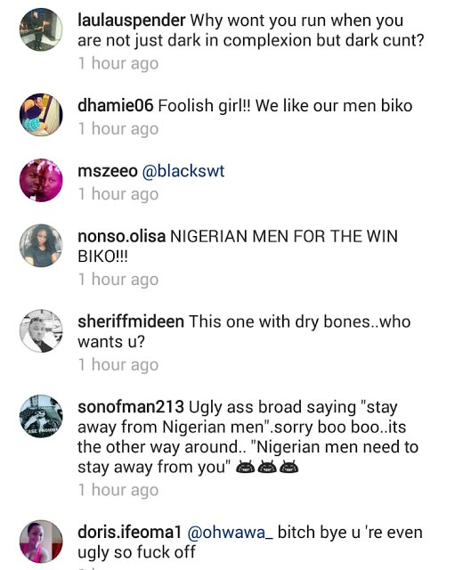 "Social media blasts Ghanaian model who asked other girls to ""run away from Nigerian men"""