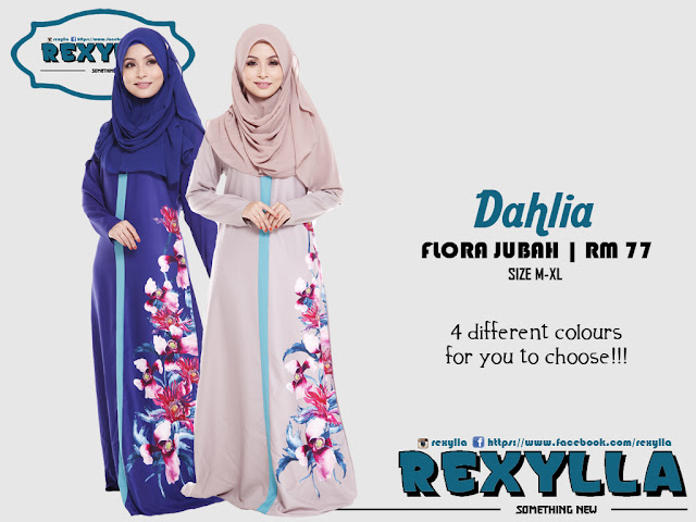 rexylla, flora jubah, dahlia collection