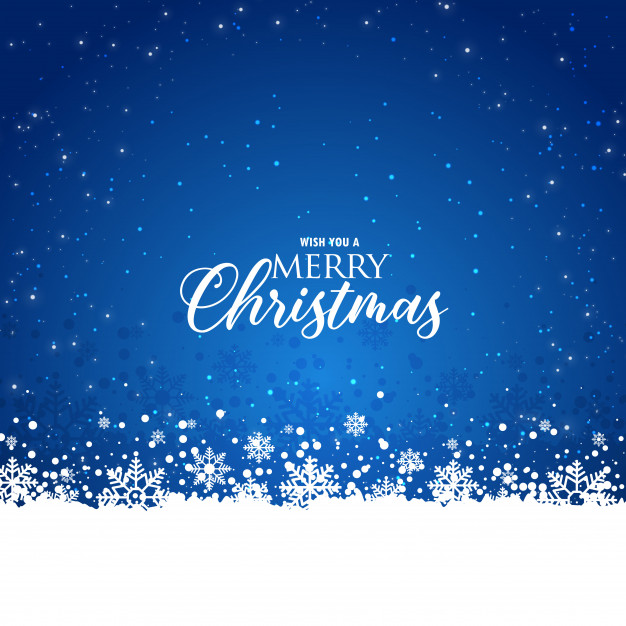 Elegant christmas blue background with snowflakes Free Vector