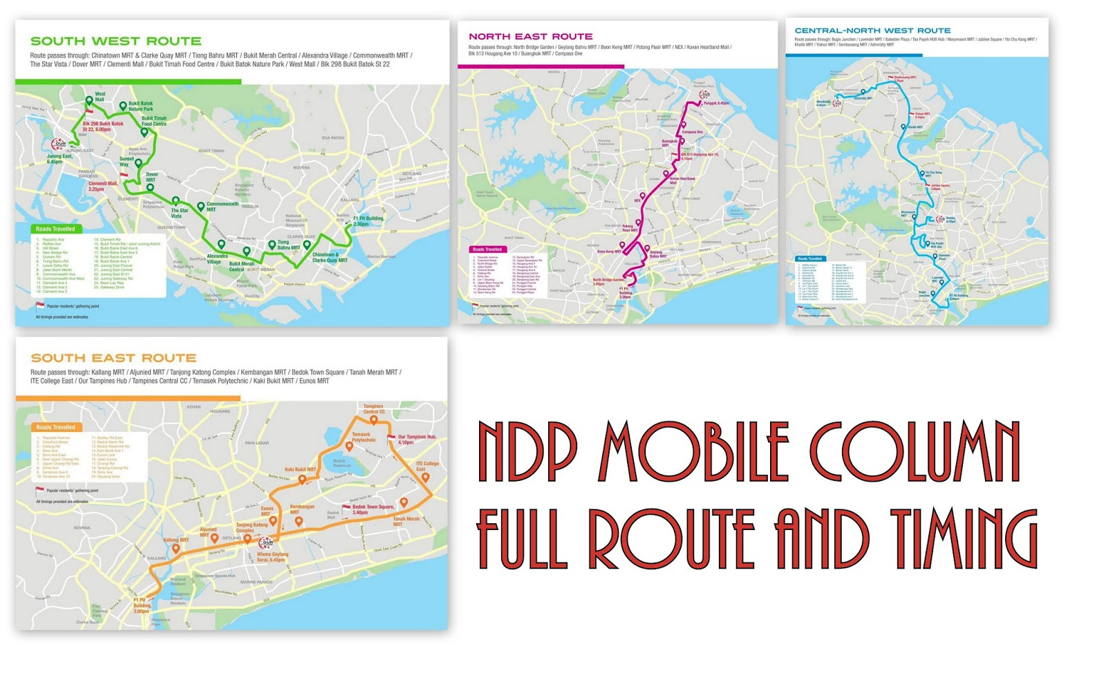 NDP Mobile Column @ Heartlands - Full Route, Locations and