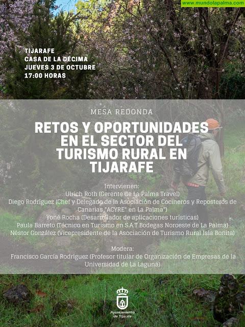 Tijarafe acoge este jueves una mesa redonda para tratar los retos y oportunidades en el sector del turismo rural en el municipio