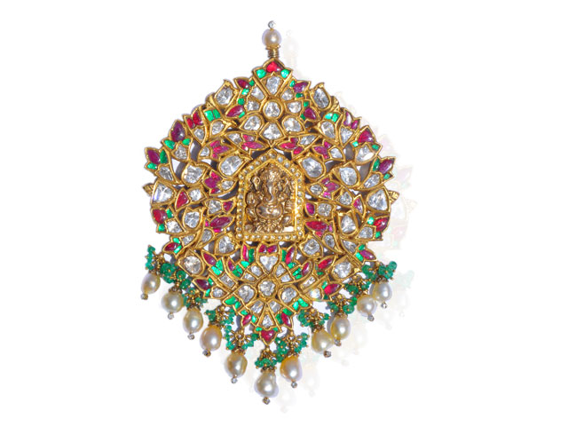 Indian Jewellery and Clothing: Temple jewellery from Karni ...  Davanam