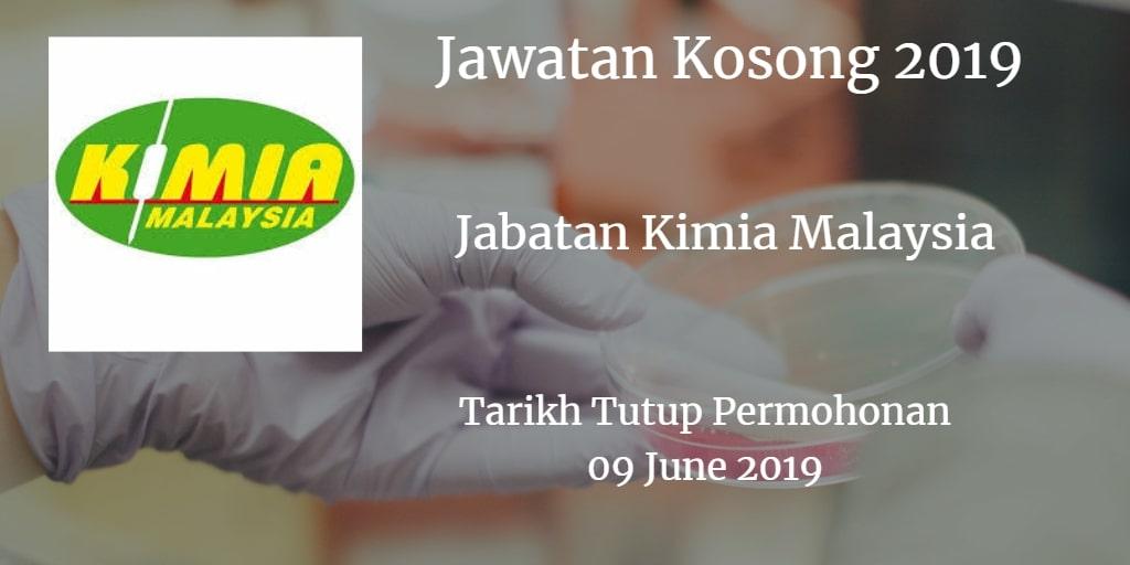 Jawatan Kosong Jabatan Kimia Malaysia 09 June 2019